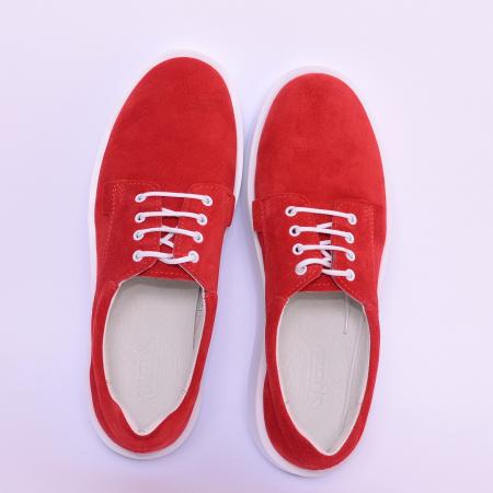 Pantofi casual dama 606 Rosu Velur [2]