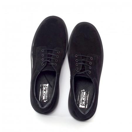 Pantofi casual dama 606 Negru Velur1