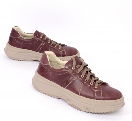 Pantofi casual dama 600 Bordo [0]