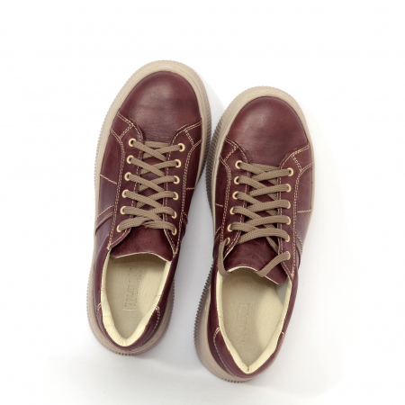 Pantofi casual dama 600 Bordo [2]