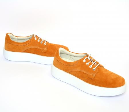 Pantofi casual dama 606 Galben Velur [2]