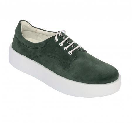 Pantofi casual dama 606 Verde Velur [0]