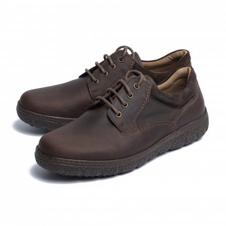 Pantofi casual din piele naturala 1020 Maro [3]