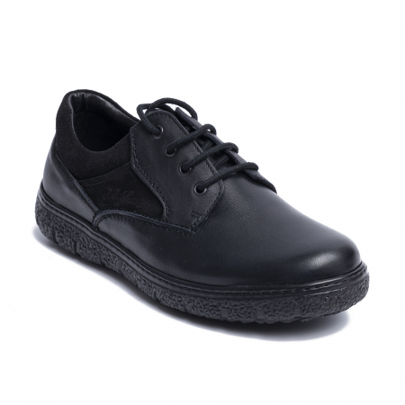 Pantofi casual din piele naturala 1020 Negru [1]