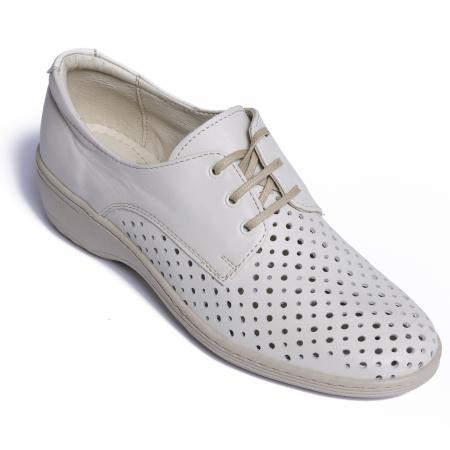 Pantofi casual din piele naturala 522 Bej [2]