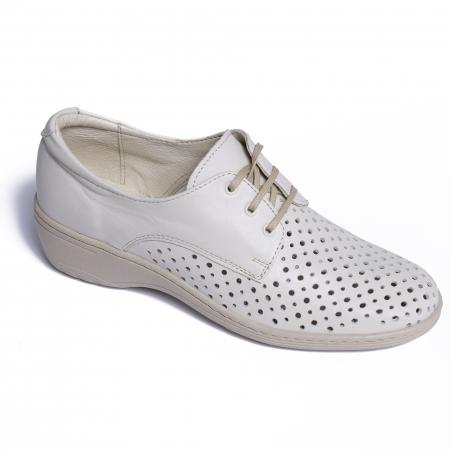 Pantofi casual din piele naturala 522 Bej [0]