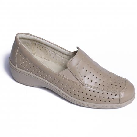 Pantofi casual din piele naturala 523 Bej [0]