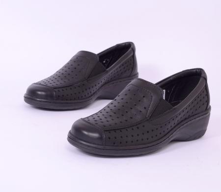 Pantofi casual din piele naturala 523 Negru [2]