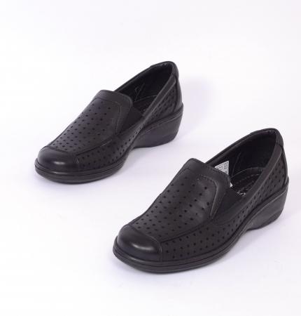 Pantofi casual din piele naturala 523 Negru [4]