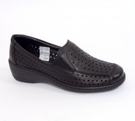 Pantofi casual din piele naturala 523 Negru [0]