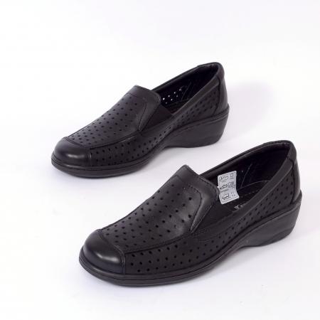 Pantofi casual din piele naturala 523 Negru [1]