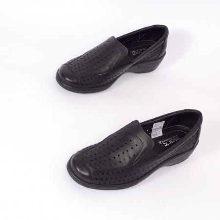 Pantofi casual din piele naturala 523 Negru [3]