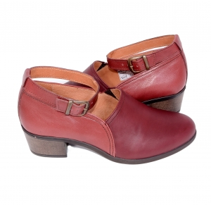 Pantofi confortabili dama 557 Bordo4