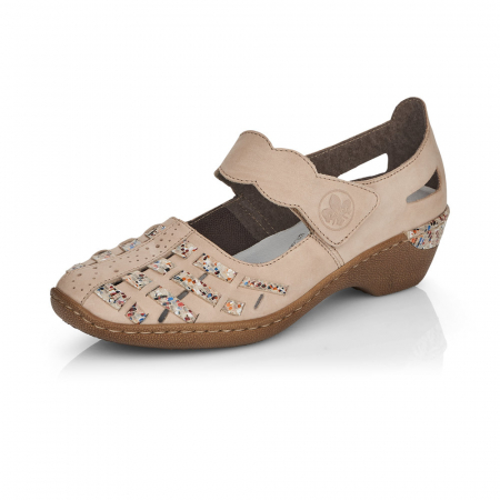 Pantofi de piele naturala Rieker 48369-606
