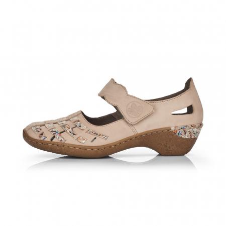 Pantofi de piele naturala Rieker 48369-605
