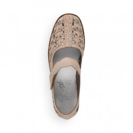 Pantofi de piele naturala Rieker 48369-604