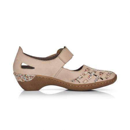 Pantofi de piele naturala Rieker 48369-601