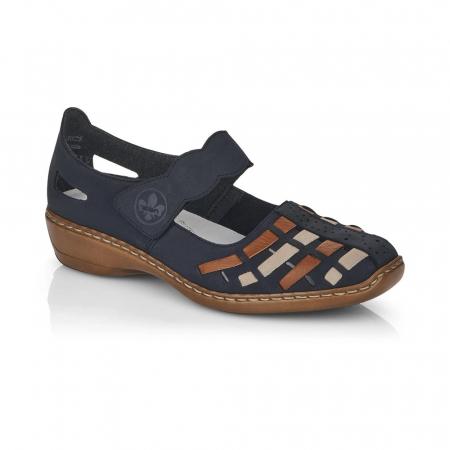 Pantofi de piele naturala Rieker 41369-14 [0]