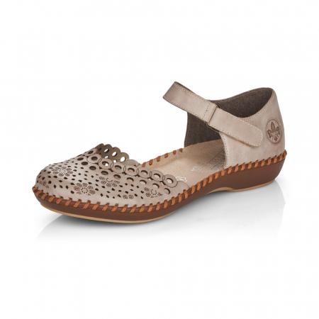 Pantofi de piele naturala Rieker M1656-625