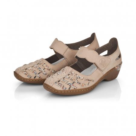 Pantofi de piele naturala Rieker 48369-602