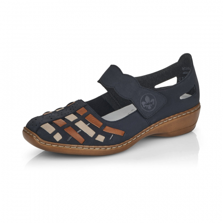 Pantofi de piele naturala Rieker 41369-14 [6]