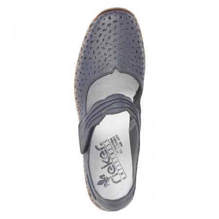 Pantofi de piele naturala Rieker 41399-14 [5]
