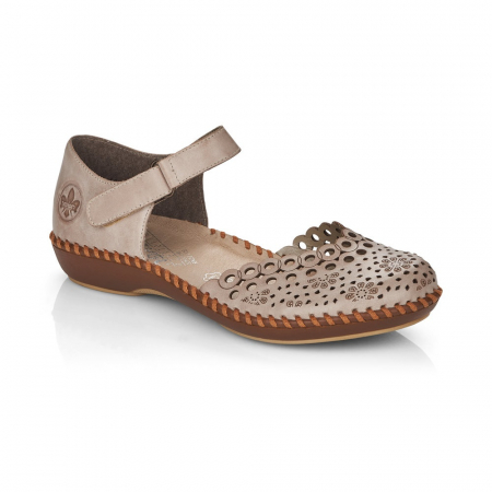 Pantofi de piele naturala Rieker M1656-620