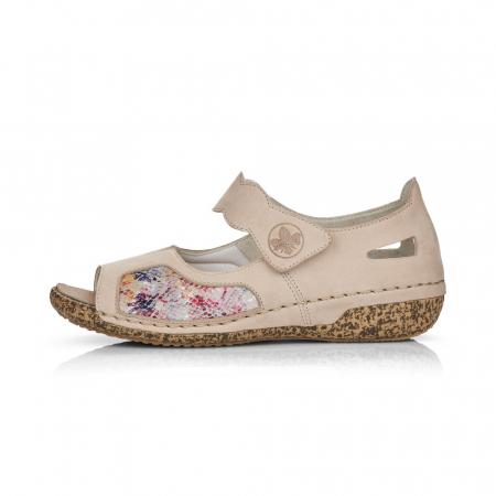 Pantofi de piele naturala decupati Rieker V7299-60 [5]