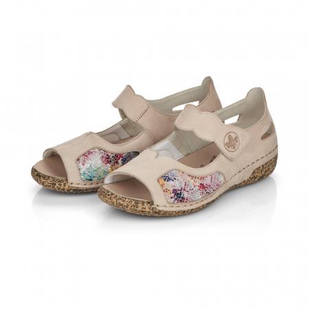 Pantofi de piele naturala decupati Rieker V7299-60 [2]