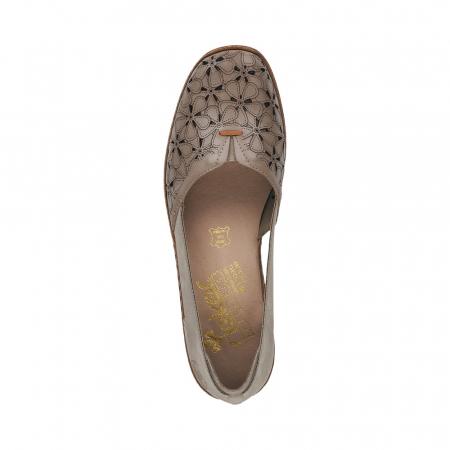 Pantofi de piele naturala Rieker 41356-64 Bej3