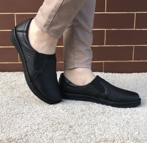 Pantofi din piele dama Medline 278/1 Negru1