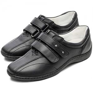 Pantofi din piele dama Medline 430 Negru3