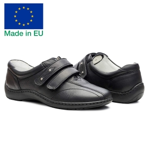 Pantofi din piele dama Medline 430 Negru1