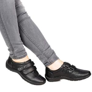 Pantofi din piele dama Medline 430 Negru0