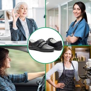 Pantofi din piele dama Medline 430 Negru2
