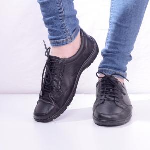 Pantofi din piele dama Medline 446 Negru1