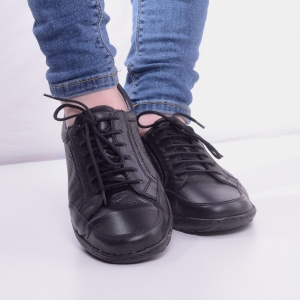 Pantofi din piele dama Medline 446 Negru2