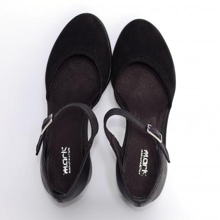Pantofi din piele naturala 216 Negru1