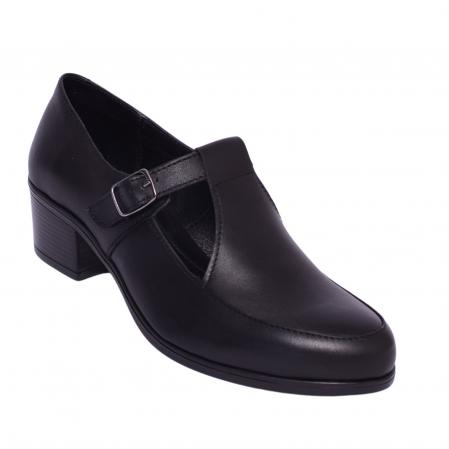 Pantofi din piele naturala 599 Negru0