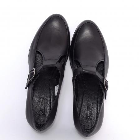 Pantofi din piele naturala 599 Negru2