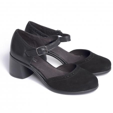 Pantofi din piele naturala 216 Negru [2]