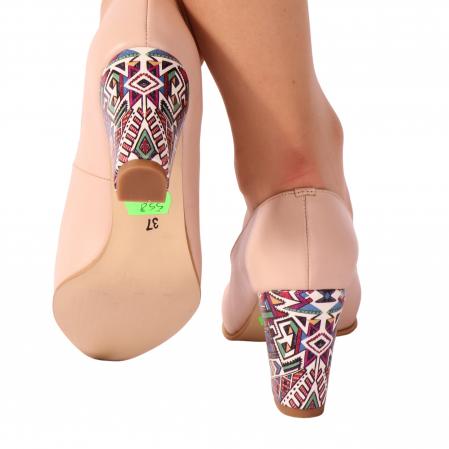Pantofi din piele naturala 558 TIMB NUDE [2]