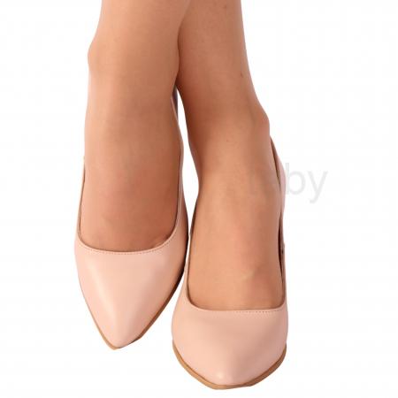 Pantofi din piele naturala 558 TIMB NUDE [1]