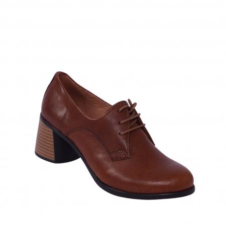 Pantofi din piele naturala 594 Maro [0]