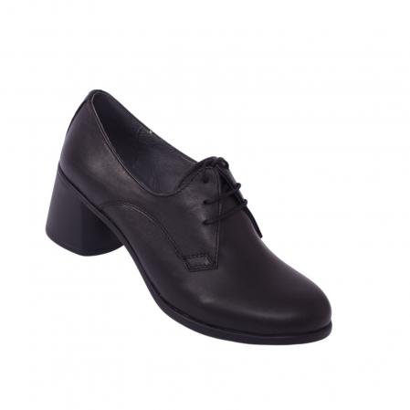 Pantofi din piele naturala 594 Negru [1]