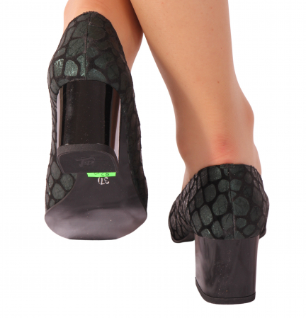 Pantofi din piele naturala 820 Verde [2]