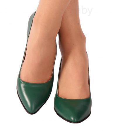 Pantofi din piele naturala 750 Timb Verde [1]