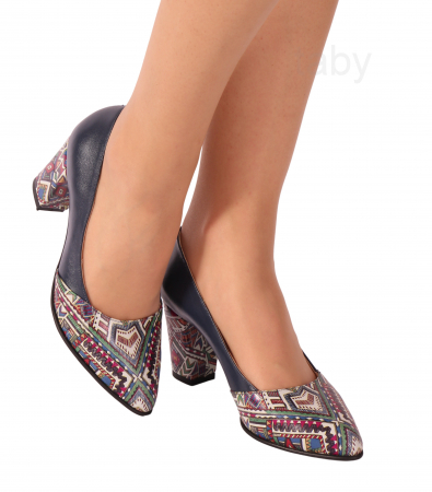 Pantofi din piele naturala 750 Tradi Bleumarin [0]