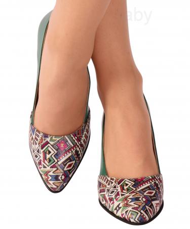 Pantofi din piele naturala 750 Tradi Verde [1]