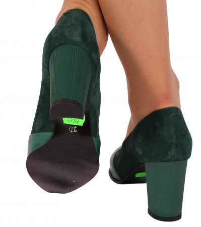 Pantofi din piele naturala 750 Verde B [1]